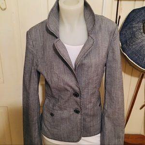 White House Black Market Jacket - 8 gray white